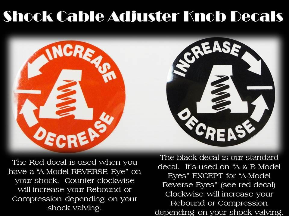 Adjuster Knob Decals