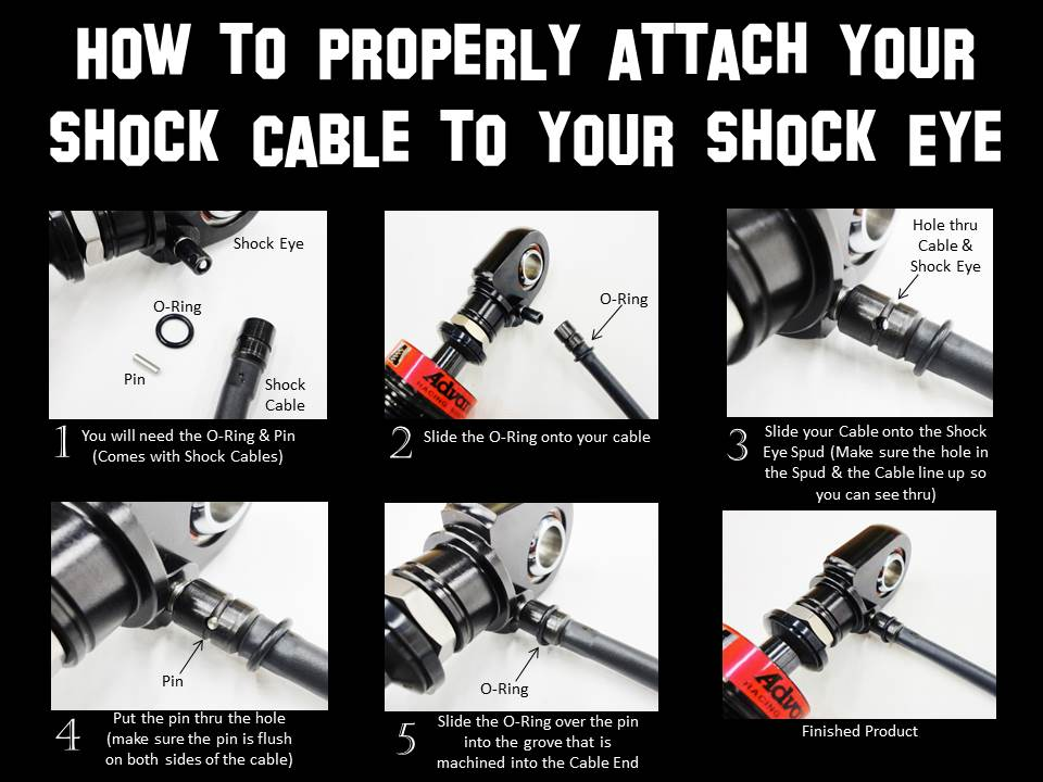 How to Properly attach your shock cable to your shock eye